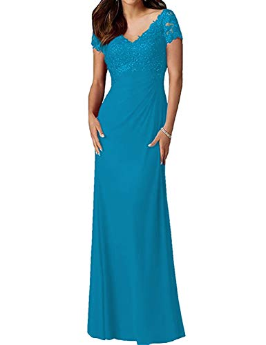 Mother of The Bride Dresses Lace Formal Gowns Long Evening Dresses Blue 14