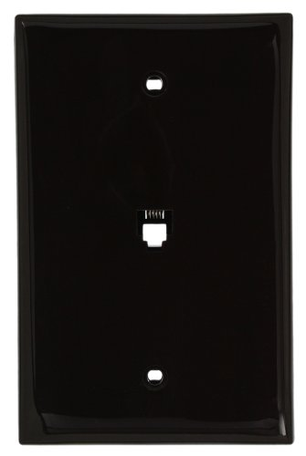 - Leviton 40539-PMB Midsize Telephone Wall Jack, 6P4C, Brown