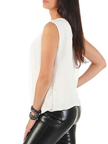 Malito Léger Femme 6879 Blouse Élégant Débardeur Blanc Unique Taille rr6fq