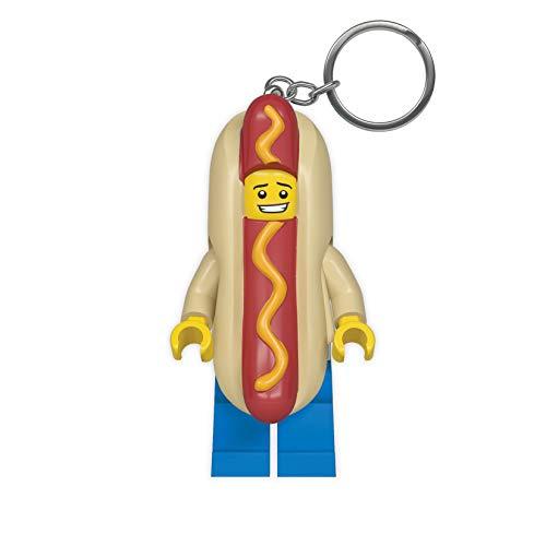 LEGO Hot Dog Man Key Light - Minifigure Key Chain with LED Flashlight