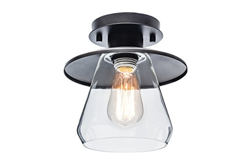 Globe electric vintage semi flush mount ceiling light oil rubbed globe electric vintage semi flush mount ceiling light oil rubbed bronze finish clear aloadofball Images
