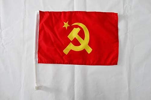 AZ FLAG Auto flag AUTOFAHNE RUSSLAND 45x30cm RUSSISCHE AUTOFLAGGE 30 x 45 cm