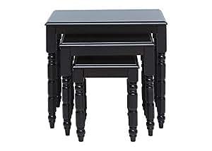 Pan Emirates 041GTW8100011 MDF Table Set, Black