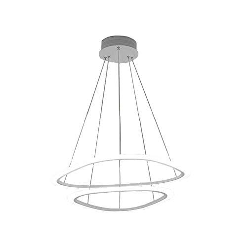 Sparkly Led Stripe Chandelier, Post Modern Luxury Acrylic Shade Pendant Light Restaurant Living Room Ceiling Lamps-White Light-c - Stripes Bronze White Pendant