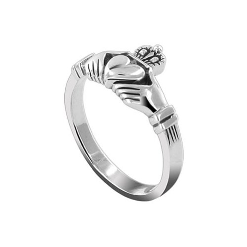 Gem Avenue 925 Sterling Silver Heart Friendship and Love Celtic Knot Claddagh Ring ()