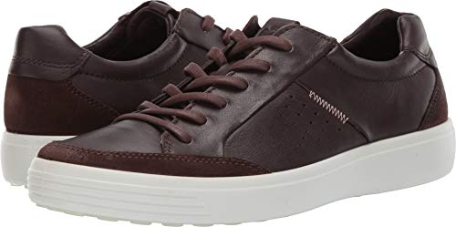 ECCO Men's Soft 7 Sneaker, Coffee Suede/Mocha, 44 M EU (10-10.5 US)