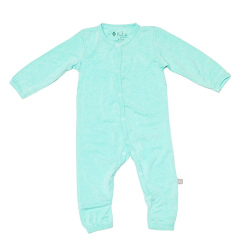 KYTE BABY Rompers - Baby Footless Coveralls Made of Soft Organic Bamboo Material (18-24mo, Aqua) ()