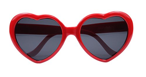 FBrand Fashion Large Women Lady Girl Oversized Heart Shaped Retro Sunglasses Cute (Heart Shaped Accessories)