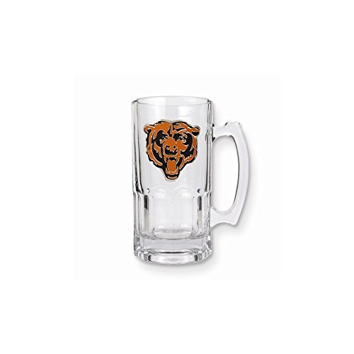 NFL Chicago Bears Primary Logo 1-Liter Macho Mug, Clear Glass