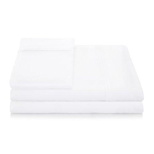 Linenspa 1500 Series 100% Tencel Super Soft, Ultra Light Sheet Set - Full, White