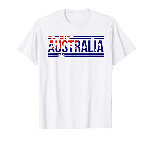 Australia - Australian Flag Shirt | Sports Soccer Football ()