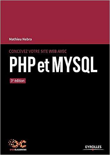 Livre Concevez votre site web avec PHP et MySQL