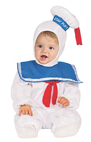 Rubie's Baby Classic Ghostbusters Ez-on Stay Puft Romper Costume, White, 4T