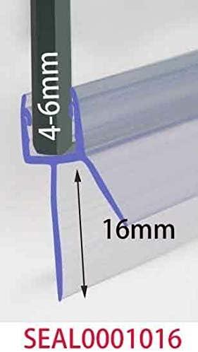 LEPAK - Tira de sellado de plástico para mampara de ducha y mampara de baño, 4 a 6 mm de grosor, 7 a 26 mm: Amazon.es: Bricolaje y herramientas