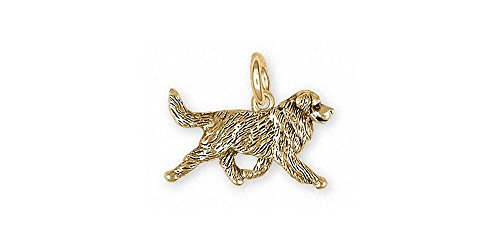 Bernese Mountain Dog Charm Jewelry 14k Gold Handmade Dog Charm BMD32X-CG