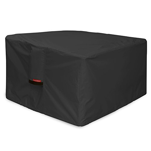 Porch Shield Fire Pit Cover - Waterproof 600D Heavy Duty Square Patio Fire Pit Table Cover Black - 44 x 44 inch