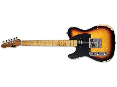 ESP LTD TE Series Left Handed TE-254 Electric Guitar, Distressed 3 Tone Burst