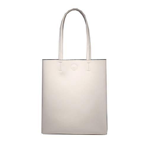Mano Tracolla Hjly In Riso A Vera Bianco Leather Femminile Pelle Borsa cStUtT0Wnq