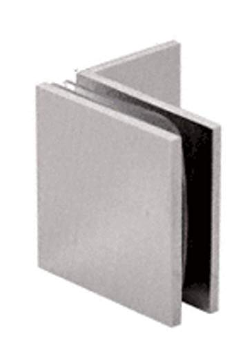 CRL Brushed Satin Chrome Fixed Panel Square Clamp With Small Leg by CR Laurence