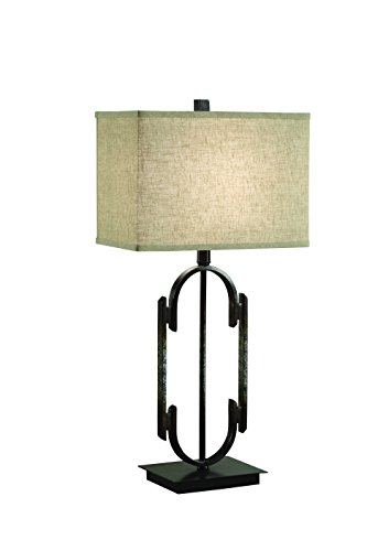 Coaster Home Furnishings Rectangular Table Lamp Bronze and Beige - Include: One table lamp New Reflects a soft glow dazzling glow - lamps, bedroom-decor, bedroom - 31hB3FMmiWL -