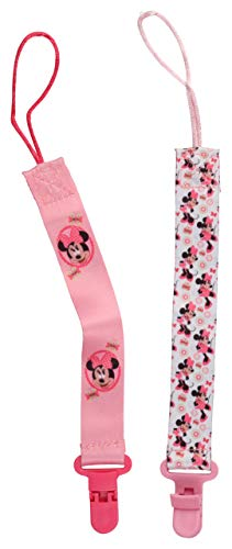 Disney Minnie Mouse 2 Pack Paifier Clip, Butterfly Minnie