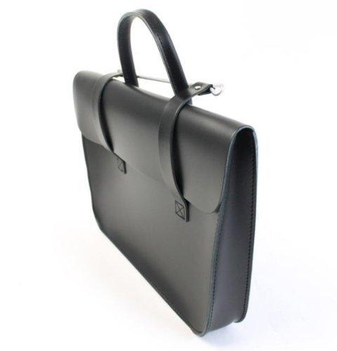 Bag or Made Music Laptop UK Black Leather Satchel Case Messenger Real Purple RfwqnaHz