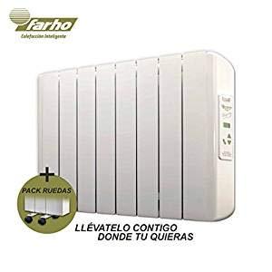 farho Radiadores Electricos Bajo Consumo Eco-X + Juego de Ruedas • 1000 W •