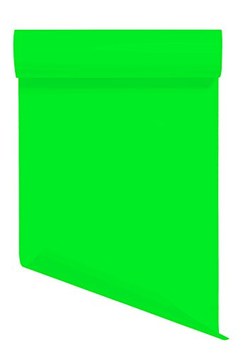 Heat Transfer Vinyl HTV/Iron-on 12 Inches by 5 Feet Roll (Fluorescent Green)