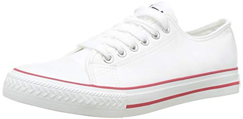 Les P'tites Bombes Women's Angy Trainers, Red (Rouge 026), 3/3.5 UK