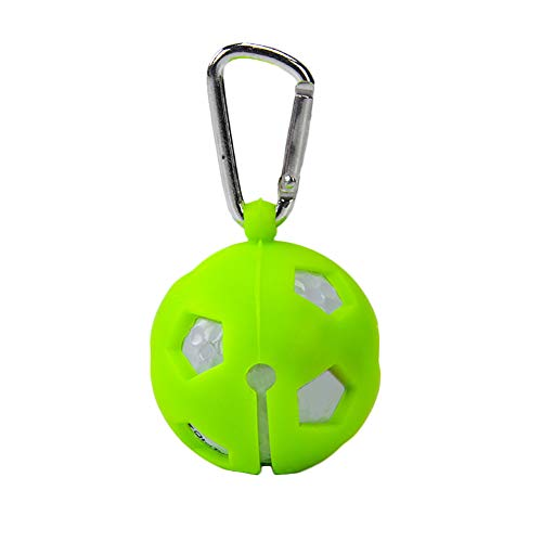 - TYewa98556 Silicone Golf Ball Cover Hollow Sleeve Protective Carabiner Keychain for 1 Ball - Green
