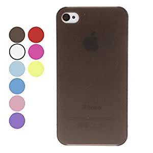 CeeMart Solid Color Ultrathin Hard Case for iPhone 4/4S - Black by ruishername