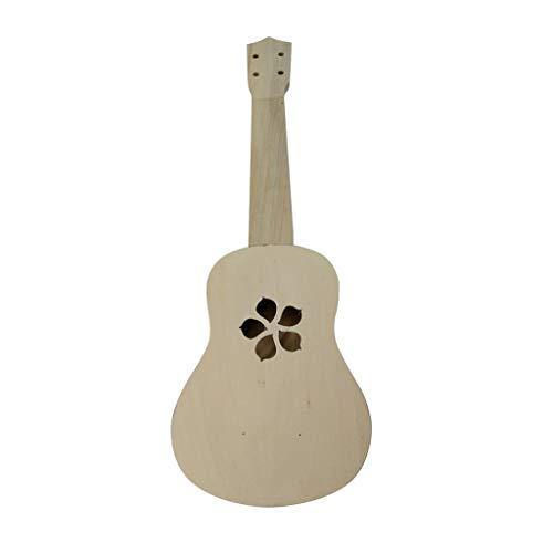 Ikevan_ Children Educational Toys Ukulele Hawaii Guitar DIY Kit Wooden Musical Instrument 21Inch for Boy Girl Beginner Kids Gift - Teddy Jigsaw