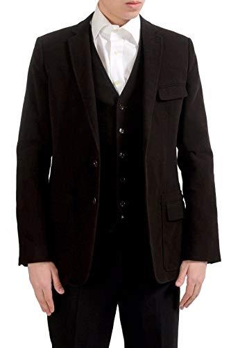 Dolce & Gabbana Men's Dark Brown Built-in Vest Blazer Sport Coat US 38 IT 48 Dolce & Gabbana Cotton Coat