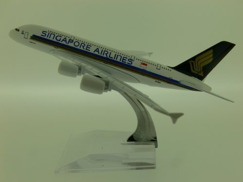 die-cast-model-of-airbus-a380-16cm-1400-scale-in-choice-of-airline-liveries-singapore-airlines-by-ai