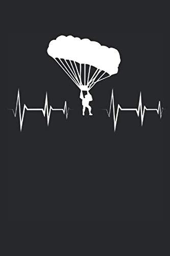 Herzschlag Herzlinie Herzfrequenz Parasailing: Notizbuch DIN A5 I Liniert I 120 Seiten I Geschenk Sportart Luftsport Extremsport Paragleiter Paragleiten Gleitschirmfliegen Gleitschirm por Parasailing Veröffentlichung