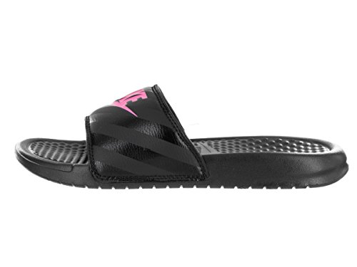 Slide da Pink NIKE Vivid Sandali Benassi Black JDI Donna Atletica wqqSEIC