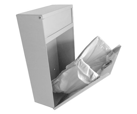 Sanitary Napkin Disposal Bin Tampon Receptacle, Steel