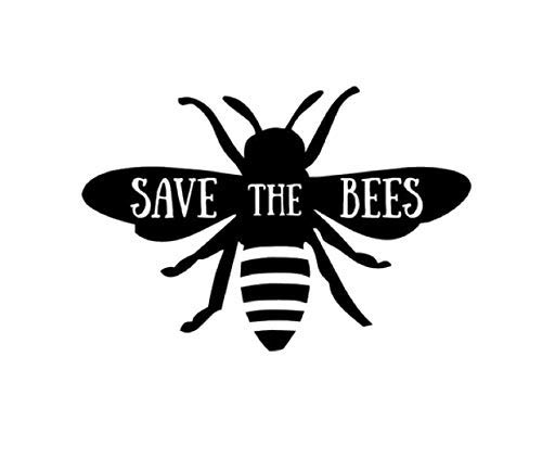 SAVE THE BEES VINYL DECAL STICKER MANY COLORS FREE SHIPPING