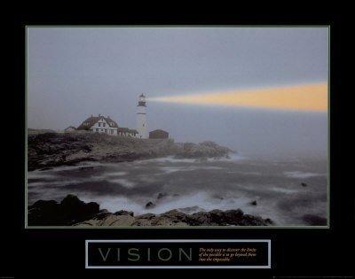 Vision Lighthouse Motivational Poster Inspirational Art Print