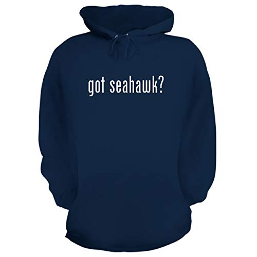 BH Cool Designs got Seahawk? - Graphic Hoodie Sweatshirt, Navy, Large