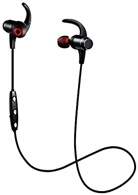 Bluetooth Headphones ,Aumet Wireless Magnetic Earbuds, Super Bass Stereo Noise Cancelling Earphones , Secure Fit for Sports, Running,Workout with Built-in Mic for Cell Phone