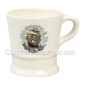 "Colonel Ichabod Conk Ceramic Shave Mug * ""Ship"" Graphics * #115s"