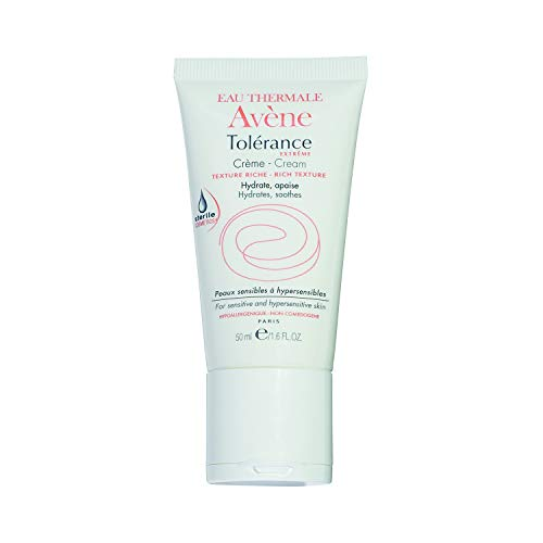 Eau Thermale Avene Tol rance Extr me Cream, Sterile Hydrating Face Moisturizer for Sensitive Skin, Fragrance, Paraben, Oil, Soy, Gluten Free, 1.6 oz