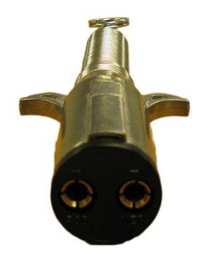 2 Way Trailer End Plug w/Spring Guard Heavy Duty -