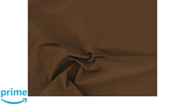 2 m marr/ón Oscuro Marr/ón Chocolate Dalston Mill Fabrics/ /Polialgod/ón 2/m