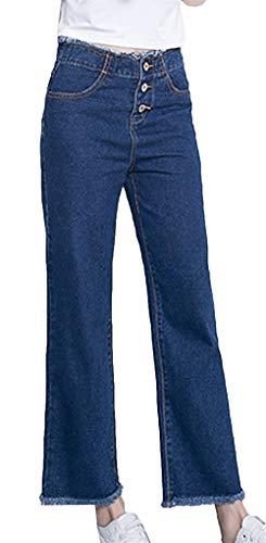 Elásticos Flaco Casual Pantalones Stretch Pantalón Fit Vaqueros Boyfriend Skinny Estilos Slim Varias Navy Stright Variantes Para Huixin Mujer Botones Con Jeans ZvSw6wq