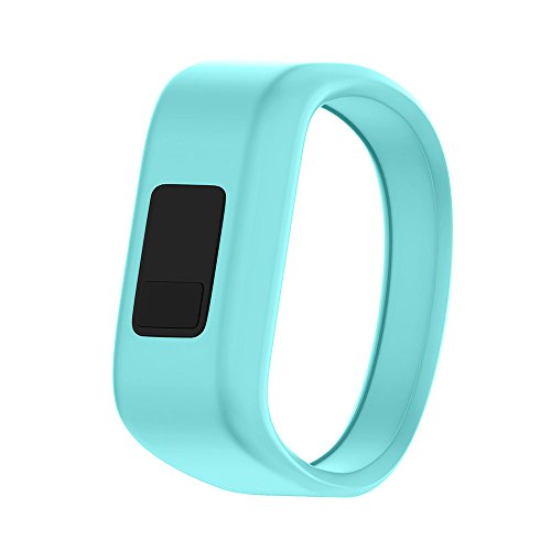 ANCOOL Compatible Garmin Vivofit JR Bands Replacement Silicone Sports Wristbands Compatible Garmin Vivofit JR/Vivofit 3(NOT Including Tracker) - Small Teal