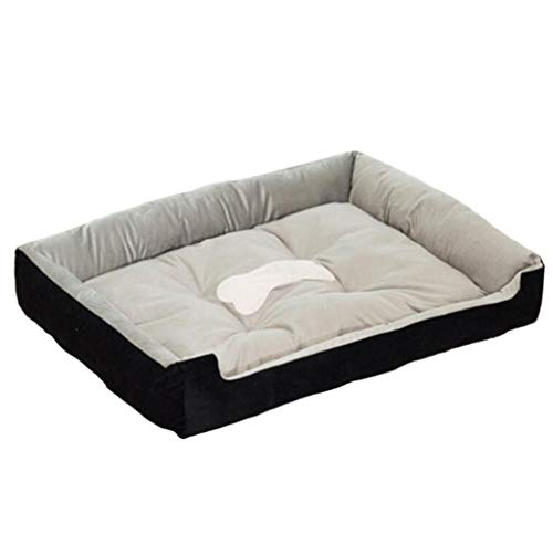 Pet Dog Bed Ergonomic Contour Design Luxe Lounger Cradle Mattress Pet Bed for Dogs & Cats Available in Multiple Colors & Styles (Color : Black, Size : 120100cm) ()