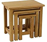 Woodvale Solid Oak Nest Of Tables Fully Assembled (BNIB)