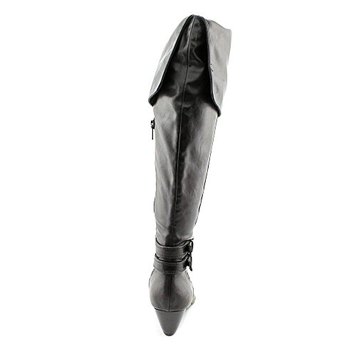 Alfani Carrie Dames Ronde Neus Synthetische Over De Knielaars Zwart